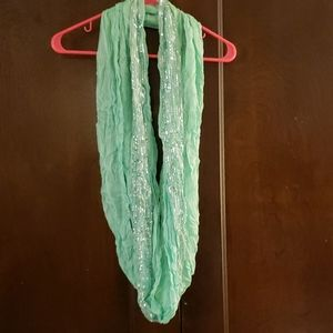 Mint/seafoam green sequined scarf